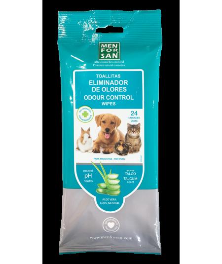 paquete de 24 toallitas eliminadoras de olores para mascotas