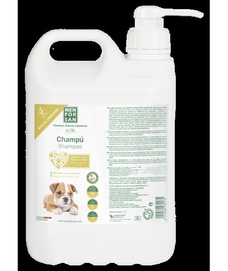 Garrafa 5L champú para cachorros germen de trigo